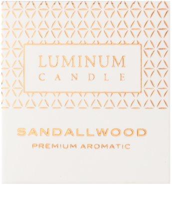 Luminum Candle Premium Aromatic Sandallwood vela perfumado   pequeno (Sphere 60 mm, 15 Hours) 2