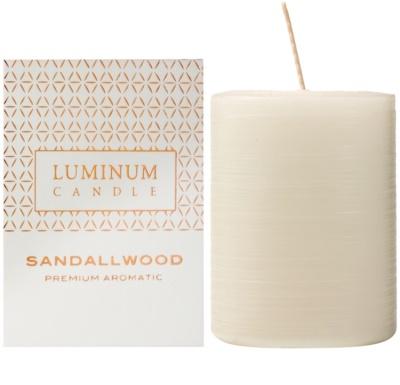 Luminum Candle Premium Aromatic Sandallwood illatos gyertya    közepes (Pillar 60 - 80 mm, 32 Hours)