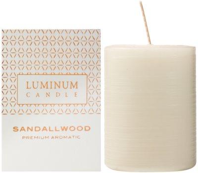 Luminum Candle Premium Aromatic Sandallwood vela perfumado   intermédio (Pillar 60 - 80 mm, 32 Hours)