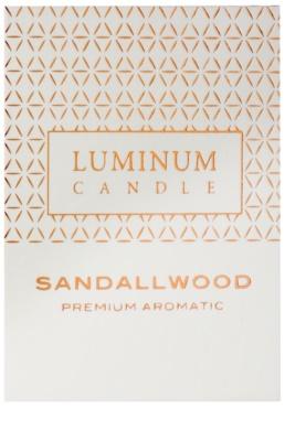 Luminum Candle Premium Aromatic Sandallwood illatos gyertya    közepes (Pillar 60 - 80 mm, 32 Hours) 2