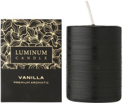 Luminum Candle Premium Aromatic Vanilla vela perfumado   intermédio (Pillar 60 - 80 mm, 32 Hours)