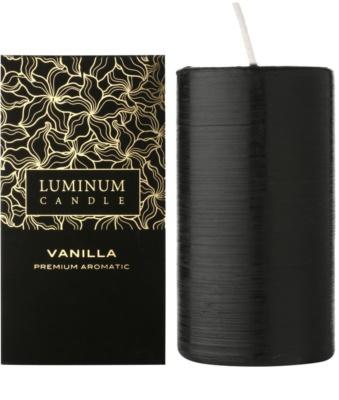 Luminum Candle Premium Aromatic Vanilla vela perfumada    grande (Pillar 70 - 130 mm, 65 Hours)