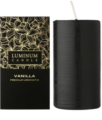 Luminum Candle Premium Aromatic Vanilla vela perfumado   grande (Pillar 70 - 130 mm, 65 Hours)