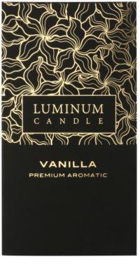 Luminum Candle Premium Aromatic Vanilla vela perfumado   grande (Pillar 70 - 130 mm, 65 Hours) 2