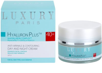 Luxury Paris Hyaluron Plus Anti-Falten und Regenerationscreme SPF 8 1