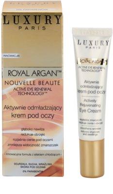 Luxury Paris Royal Argan crema antiarrugas para contorno de ojos  con efecto frío 1