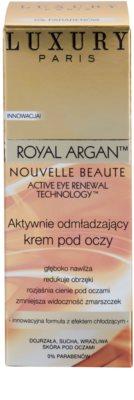 Luxury Paris Royal Argan crema antiarrugas para contorno de ojos  con efecto frío 2