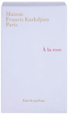 Maison Francis Kurkdjian A la Rose Eau de Parfum para mulheres 4