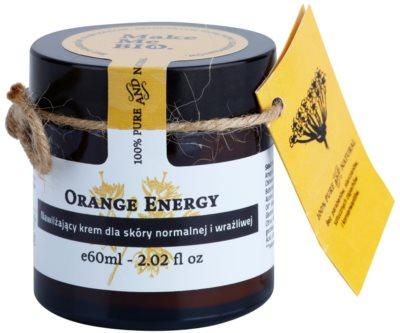 Make Me BIO Face Care Orange Energy Creme hidratante para pele normal a sensível