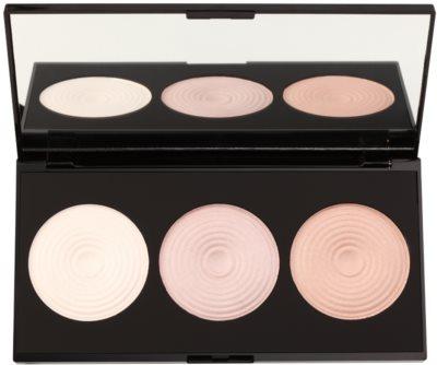 Makeup Revolution Beyond Radiance paleta osvetljevalcev z ogledalom