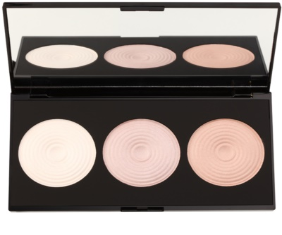 Makeup Revolution Beyond Radiance paleta rozjasňovačů se zrcátkem