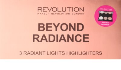 Makeup Revolution Beyond Radiance paleta osvetljevalcev z ogledalom 2