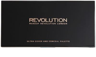 Makeup Revolution Cover & Conceal Palette mit Korrekturstiften 1