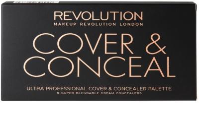 Makeup Revolution Cover & Conceal Palette mit Korrekturstiften 2