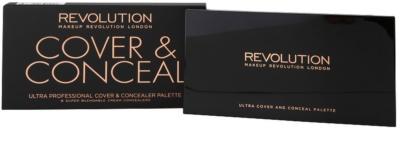 Makeup Revolution Cover & Conceal Palette mit Korrekturstiften 3