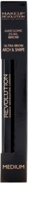 Makeup Revolution Ultra Brow Arch & Shape lápis de sobrancelhas 2 em 1 2