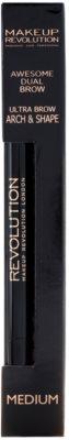 Makeup Revolution Ultra Brow Arch & Shape svinčnik za obrvi 2v1 2
