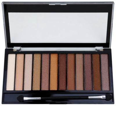 Makeup Revolution Essential Shimmers paleta de sombras de ojos 1