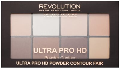 Makeup Revolution Ultra Pro HD Fair paleta na kontury obličeje pudrová 2