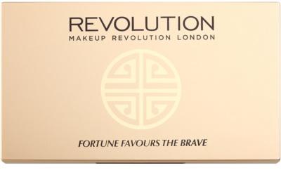 Makeup Revolution Fortune Favours the Brave paleta senčil za oči z ogledalom in aplikatorjem 1