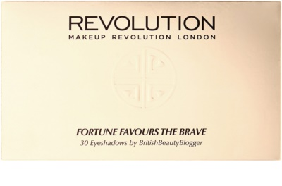 Makeup Revolution Fortune Favours the Brave paleta de sombras de ojos con espejo y aplicador 2