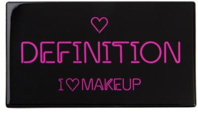 Makeup Revolution I ♥ Makeup I Heart Definition paleta para contornos faciales 1
