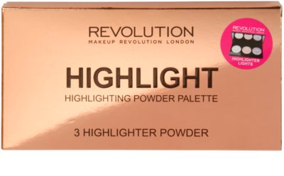 Makeup Revolution Highlight paleta de polvos iluminadores 2