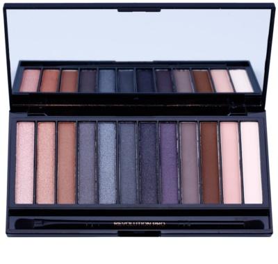 Makeup Revolution Iconic Smokey paleta de sombras de ojos con espejo y aplicador