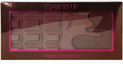 Makeup Revolution I ♥ Makeup I Heart Chocolate paleta očních stínů se zrcátkem a aplikátorem 3