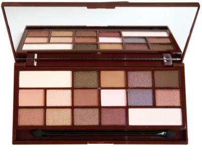 Makeup Revolution I ♥ Makeup I Heart Chocolate paleta očných tieňov so zrkadielkom a aplikátorom