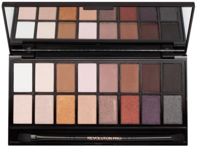 Makeup Revolution Iconic Pro 1 paleta cieni do powiek z lusterkiem i aplikatorem