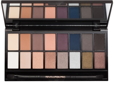 Makeup Revolution Iconic Pro 2 paleta cieni do powiek z lusterkiem i aplikatorem