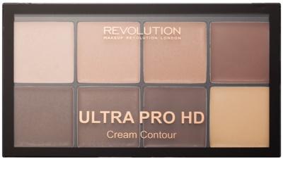 Makeup Revolution Ultra Pro HD Light Medium paleta do konturowania twarzy kremowa 1