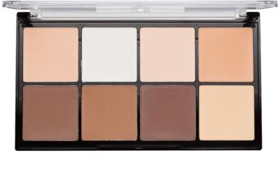 Makeup Revolution Ultra Pro HD Light Medium paleta do konturowania twarzy pudrowa