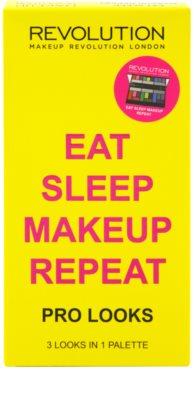 Makeup Revolution Pro Looks Eat Sleep Makeup Repeat палитра от сенки за очи 3