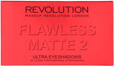 Makeup Revolution Flawless Matte 2 Palette mit Lidschatten mit Spiegel 2