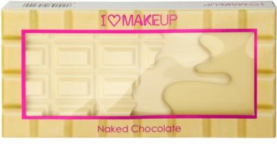 Makeup Revolution I ♥ Makeup Naked Chocolate palete milagrosa de sombras 2