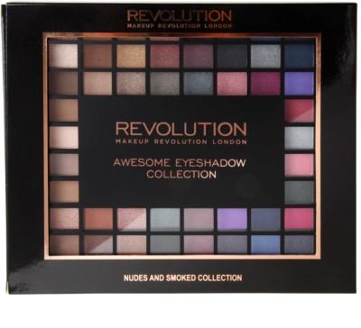 Makeup Revolution Nudes And Smoked Collection paleta farduri de ochi 2