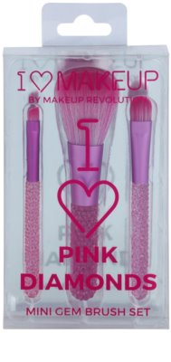 Makeup Revolution I ♥ Makeup Pink Diamonds set mini čopičev 1