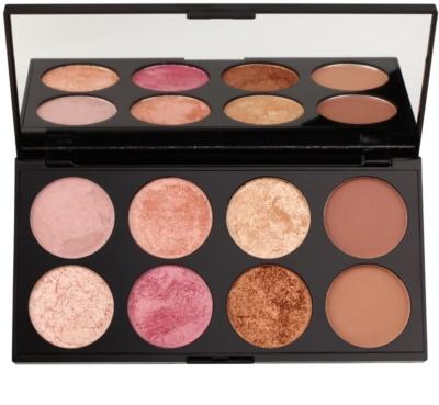 Makeup Revolution Golden Sugar 2 Rose Gold paleta de blushes com espelho pequeno