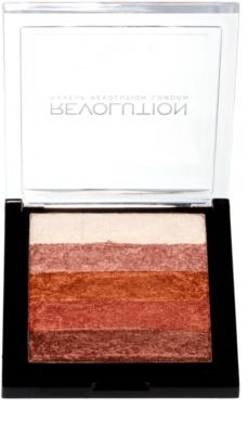 Makeup Revolution Shimmer Brick bronzer in osvetljevalec 2v1