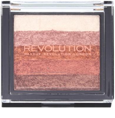 Makeup Revolution Shimmer Brick Bronzer und Highlighter 2in1 1