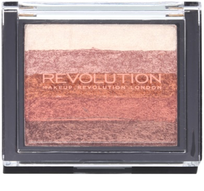 Makeup Revolution Shimmer Brick bronzer in osvetljevalec 2v1 1