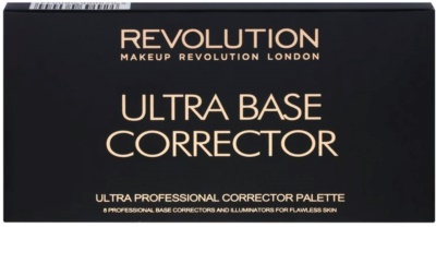 Makeup Revolution Ultra Base paleta korektorjev 2