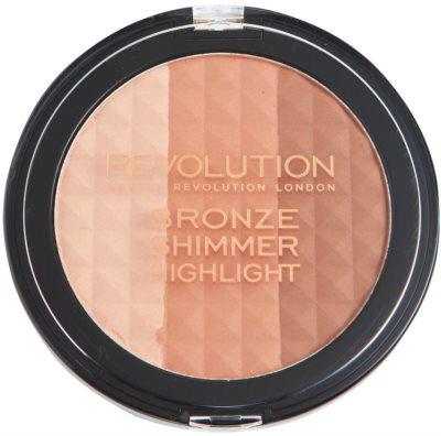 Makeup Revolution Ultra Bronze Shimmer HIghlight bronzující rozjasňující pudr