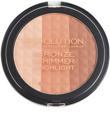 Makeup Revolution Ultra Bronze Shimmer HIghlight highliting Bronzer Puder