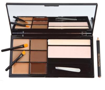 Makeup Revolution Ultra Brow paletta a szemöldök sminkeléséhez 1