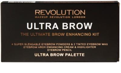Makeup Revolution Ultra Brow paletta a szemöldök sminkeléséhez 3
