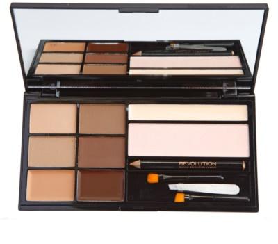 Makeup Revolution Ultra Brow paleta pentru machiaj sprancene