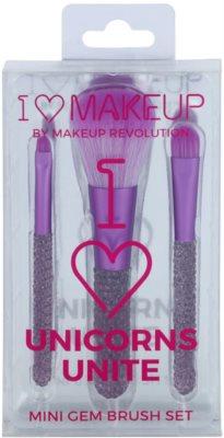 Makeup Revolution I ♥ Makeup Unicorns Unite mini ecset szett 1